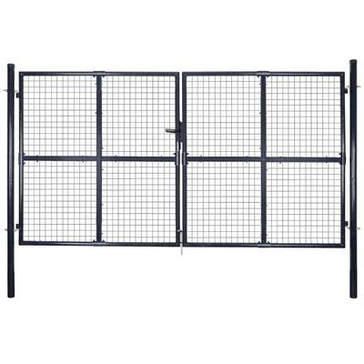 vidaXL Nätgrind för trädgård galvaniserat stål 289x200 cm grå
