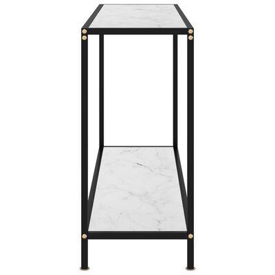 vidaXL Konsolbord vit 120x35x75 cm härdat glas