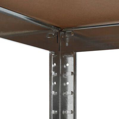 vidaXL Förvaringshylla silver 75x75x180 cm stål och MDF