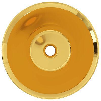 vidaXL Handfat 42x14 cm keramik guld