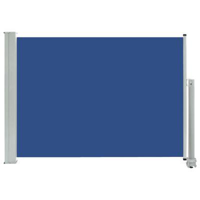 vidaXL Infällbar sidomarkis 80x300 cm blå