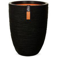 Capi Vas Nature Rib elegant låg 36x47 cm svart KBLR782
