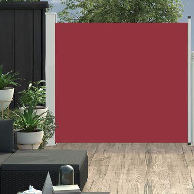 vidaXL Infällbar sidomarkis 170x300 cm röd