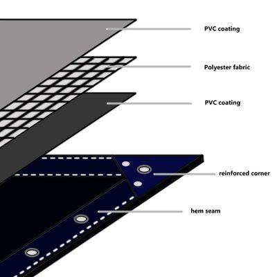 vidaXL Presenning 650 g/m² 4x6 m grå