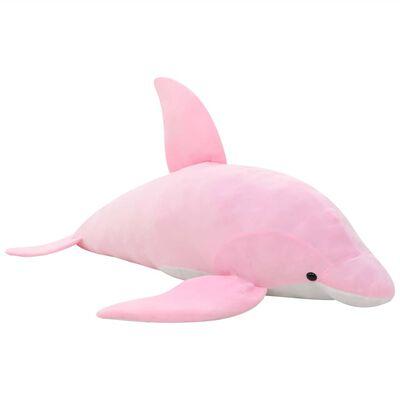 vidaXL Gosedjur delfin plysch rosa