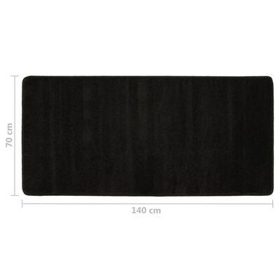 vidaXL Sovrumsmattor 3 st långhårig svart