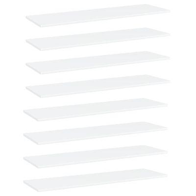 vidaXL Hyllplan 8 st vit 100x30x1,5 cm spånskiva