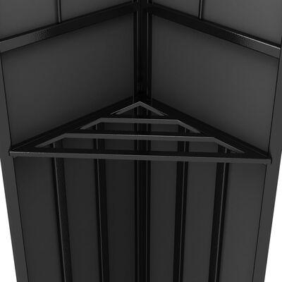 vidaXL Paviljong med dubbeltak 3x6 m antracit