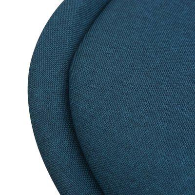 vidaXL Matstolar 4 st blå tyg