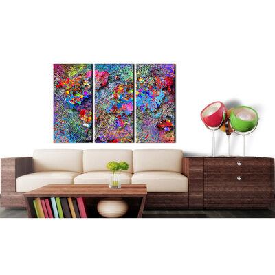 Anslagstavla - Colourful Whirl   - 90x60 Cm