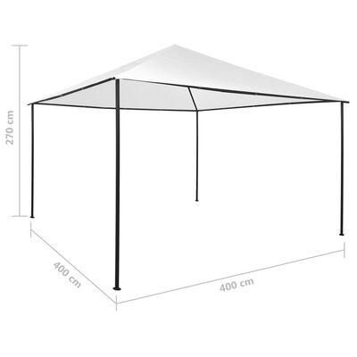 vidaXL Paviljong 4x4x2,7 m vit 180 g/m²