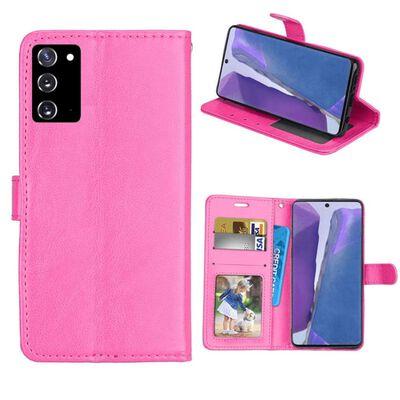 Mobilplånbok 3-kort Samsung Galaxy Note 20-rosa