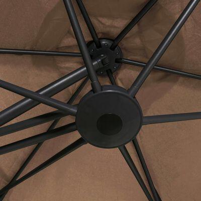 vidaXL Trädgårdsparasoll med stålstång 300 cm taupe