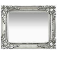 vidaXL Väggspegel barockstil 50x40 cm silver