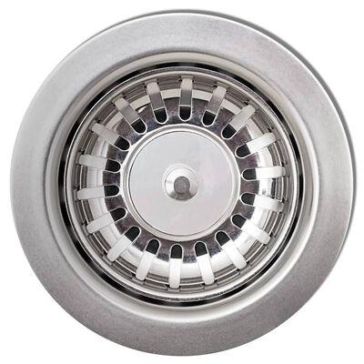 vidaXL Diskho granit enkel oval grå