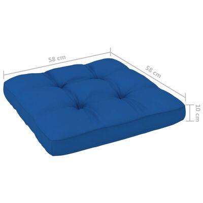 vidaXL Dyna till pallsoffa kungsblå 58x58x10 cm