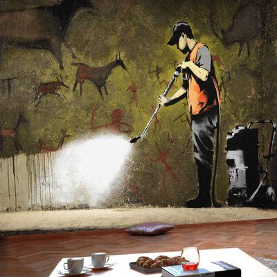 Fototapet - Banksy - Cave Painting - 300x210 Cm