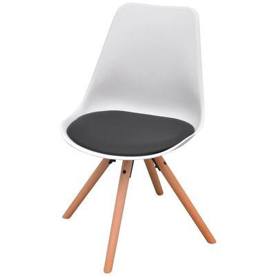 vidaXL Matbord och stolar sju delar svart och vit