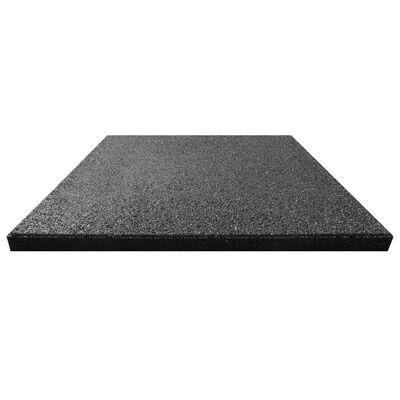 vidaXL Fallskyddsmattor 18 st gummi 50x50x3 cm svart