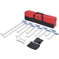 vidaXL 16-delars Repareringskit för bucklor rostfritt stål