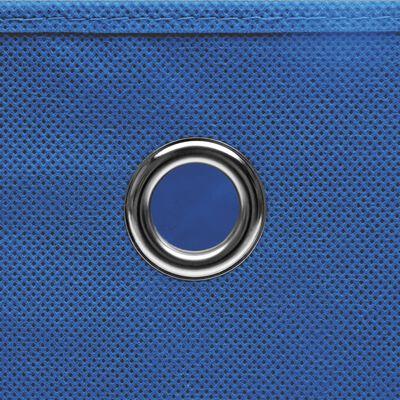 vidaXL Förvaringslådor med lock 10 st 28x28x28 cm blå