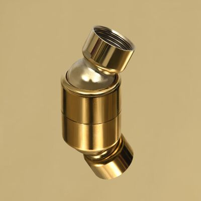 vidaXL Takduschhuvud rostfritt stål 30x30 cm fyrkantigt guld