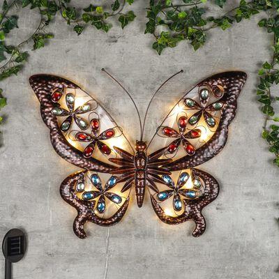 HI Soldriven trädgårdslampa utsmyckad fjäril