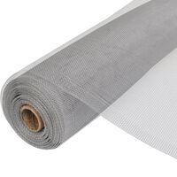 vidaXL Insektsnät aluminium 100x500 cm silver