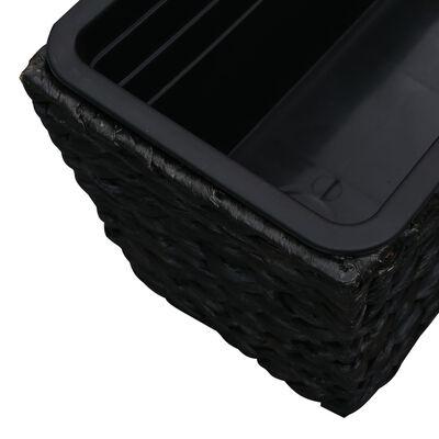 vidaXL Odlingslådor 2 st vattenhyacint svart