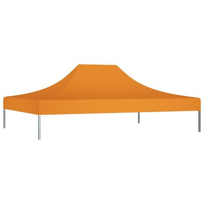 vidaXL Tak till partytält 4x3 m orange 270 g/m²