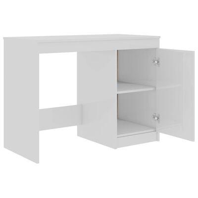 vidaXL Skrivbord vit högglans 100x50x76 cm spånskiva
