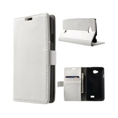Mobilplånbok 2-kort LG F60 (D390) Vit