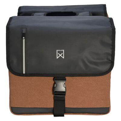 Willex Dubbel affärsväska 46 L svart och brun