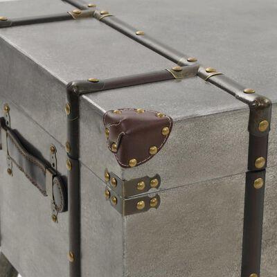 vidaXL Soffbord MDF och aluminium 102x51x47,5 cm