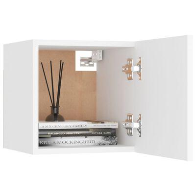 vidaXL Sängbord vit 30,5x30x30 cm spånskiva