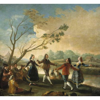 Danching by the River Manzanares,Francisco Goya,50x46cm