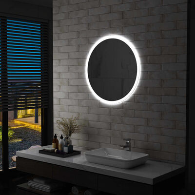 vidaXL Badrumsspegel LED 70 cm,
