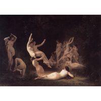 The Nymphaeum,Adolphe William Bouguereau,60x40cm