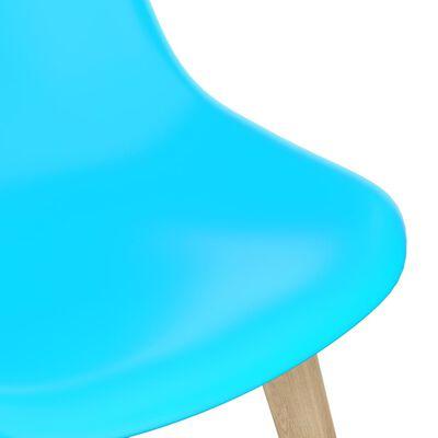 vidaXL Matgrupp 5 delar blå