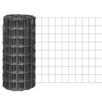 vidaXL Eurofence stål 10x0,8 m grå