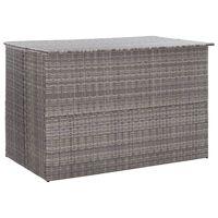 vidaXL Dynbox grå 150x100x100 cm konstrotting