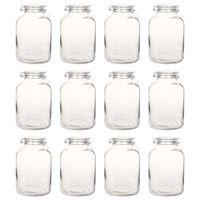 vidaXL Syltburkar i glas med lock 12 st 5 L