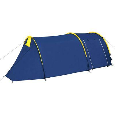 vidaXL Tält för 4 personer marinblå/ljusblå