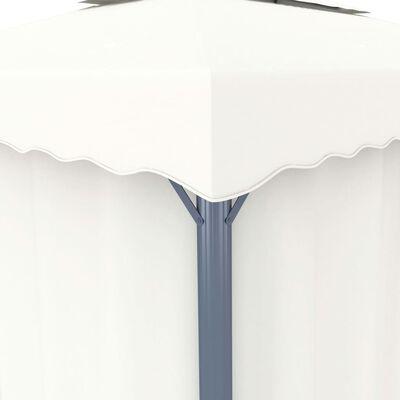 vidaXL Paviljong med draperi och ljusslinga LED 3x3 m gräddvit