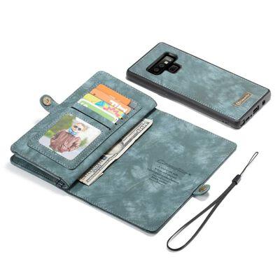 CASEME Samsung Galaxy Note 9 Retro läder plånboksfodral Blå