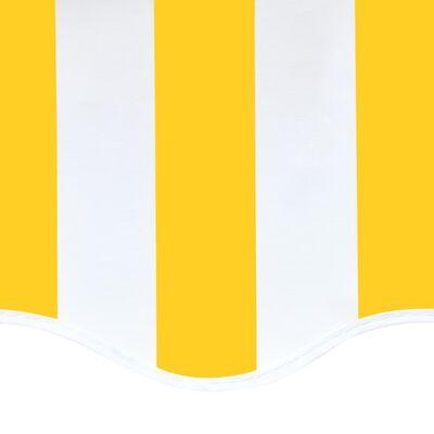 vidaXL Markisväv gul och vit 5x3,5 m