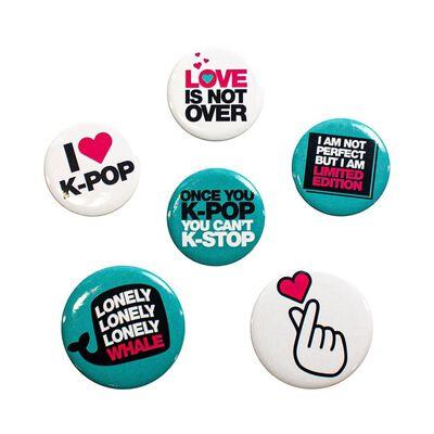 K-Pop Quotes, 6x Pins