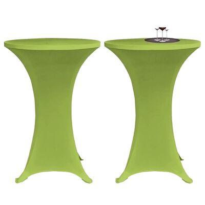 vidaXL Bordsöverdrag 4 st 70 cm stretch grön