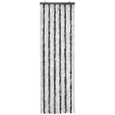 vidaXL Insektsdraperi grå och vit 56x185 cm chenille