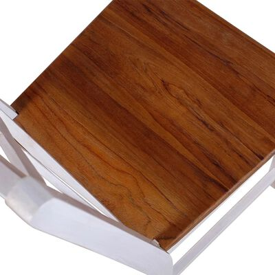 vidaXL Matstolar 4 st massiv teak mahogny